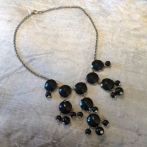 J Crew Black and Gold Bubble Necklace